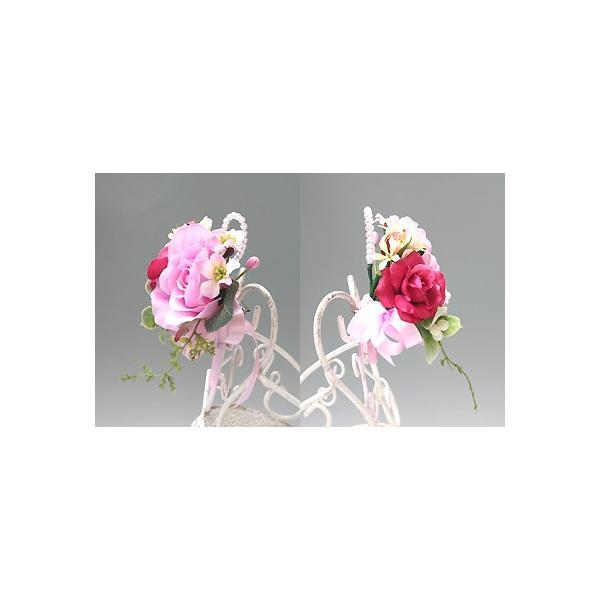 スイートピンク色のバラのコサージュ vertpalette-store 04