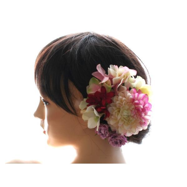 七変化する髪飾り、ダリアとアジサイのパーツセット(10パーツ):HA076|vertpalette-store|03