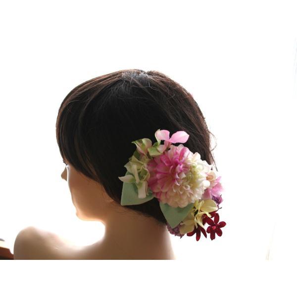 七変化する髪飾り、ダリアとアジサイのパーツセット(10パーツ):HA076|vertpalette-store|04