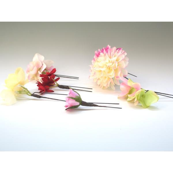 七変化する髪飾り、ダリアとアジサイのパーツセット(10パーツ):HA076|vertpalette-store|09