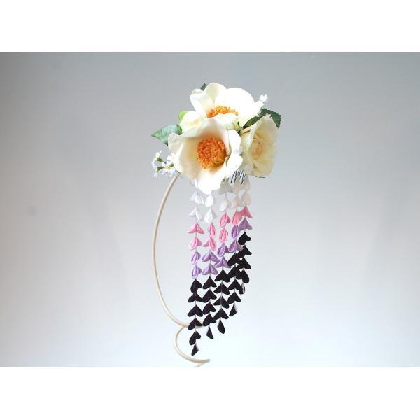 パープル系の下がりが入った粋な髪飾り(コーム):HA034 vertpalette-store 02