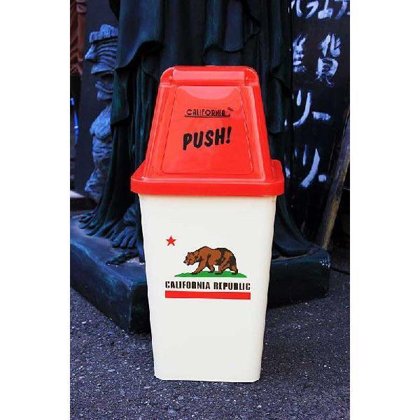 カリフォルニア州 ゴミ箱 アメリカンポップ柄 ごみ箱