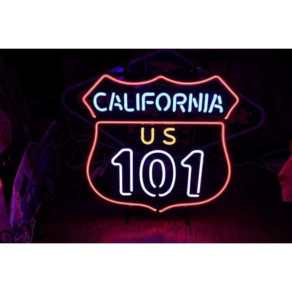 アメリカの国道101号線 ネオン管 標識型 カリフォルニア区間|veryberry