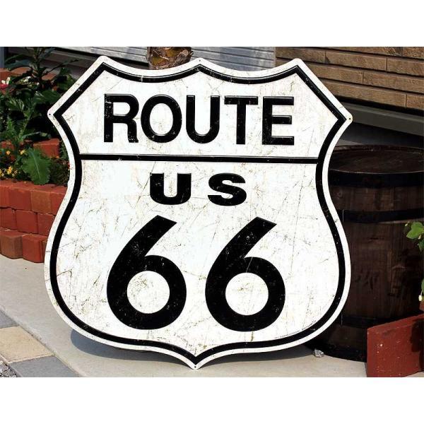 ルート66 大型看板 標識型 アメリカンブリキ看板