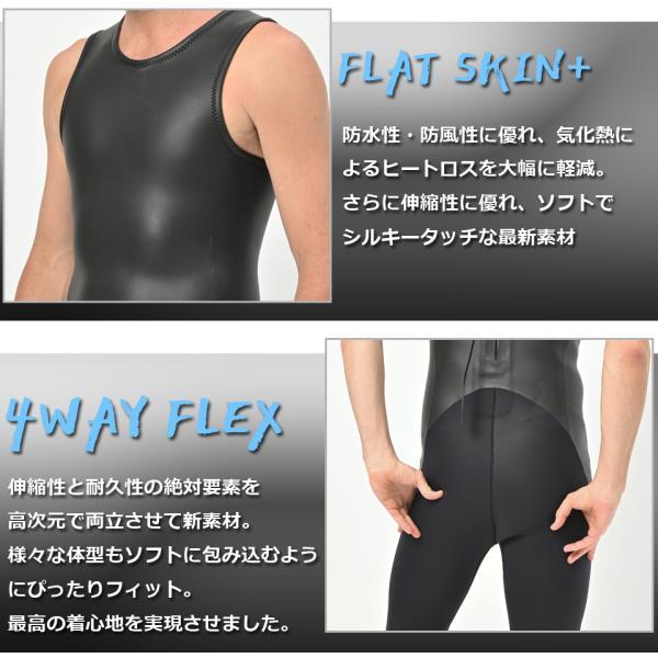 長袖 タッパー 2mm& ロングジョン 3mm  セット メンズ  ウェットスーツ サーフィン  フルスーツ AND NEW YOU 2019年モデル|verygood|05