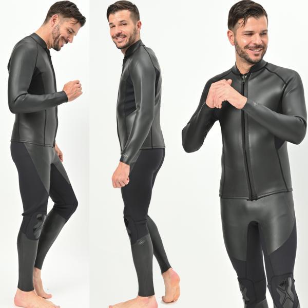 長袖 タッパー 2mm& ロングジョン 3mm  セット メンズ  ウェットスーツ サーフィン  フルスーツ AND NEW YOU 2019年モデル|verygood|09