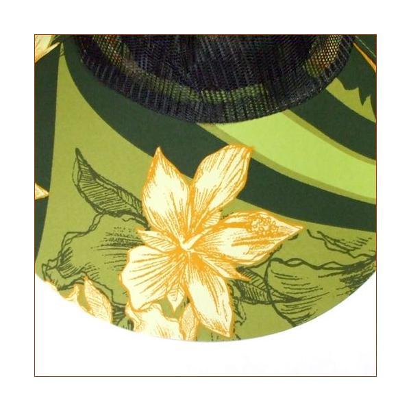虫除けネット付き帽子 虫よけガーデニングハット(花柄グリーン) ガーデニング・帽子|vg-harada|02