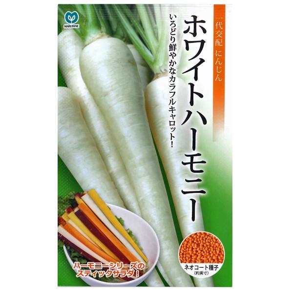 野菜の種/種子 ホワイトハーモニー ニンジン  にんじん キャロット ネオコート種子 人参  320粒 (メール便発送)