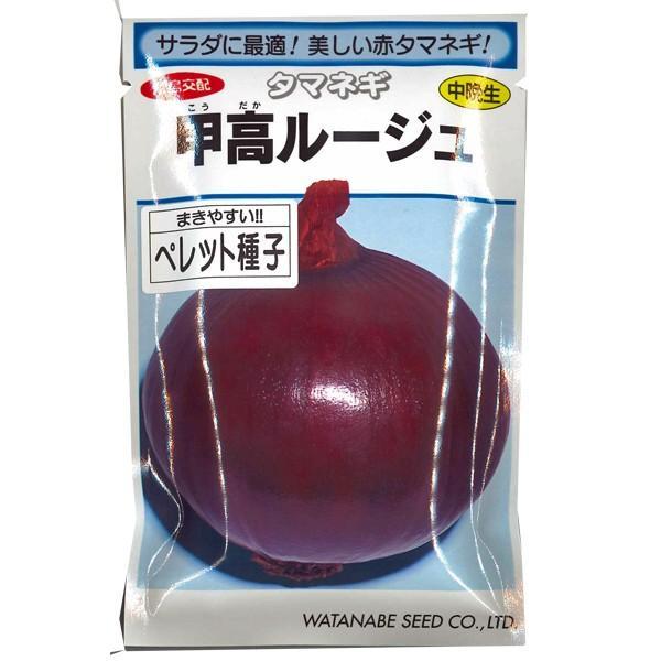 野菜の種/種子 甲高ルージュ ・タマネギ 赤玉ねぎ 玉葱 ペレット種子 200粒 (メール便発送)