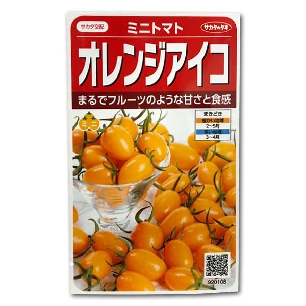 野菜の種/種子 オレンジアイコ・ミニトマト 13粒(メール便発送)サカタのタネ 種苗|vg-harada