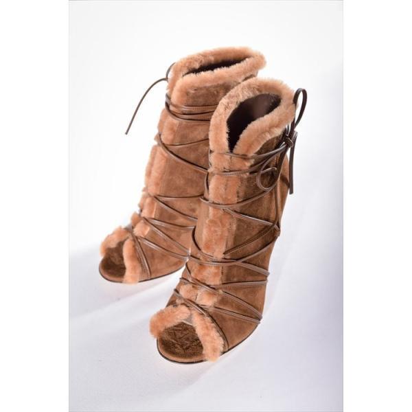 2016年秋冬新作 ジャンヴィトロッシ GIANVITO ROSSI パンプス グラディエーター オープントゥ 靴 レディース G50998 CAMOSCIO ブラウン SALE16AW