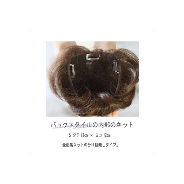 部分ウィッグ|バックスタイルS|有名メーカーに負けない高品質ウィッグ 女性用かつら エクステ ヘアピース 頭頂部