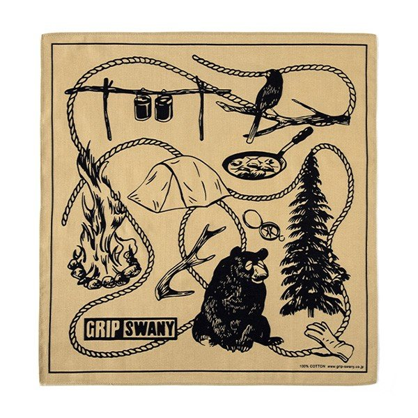 グリップスワニー Grip Swany Gs Camp バンダナ Coyote GSA-51|vic2|02