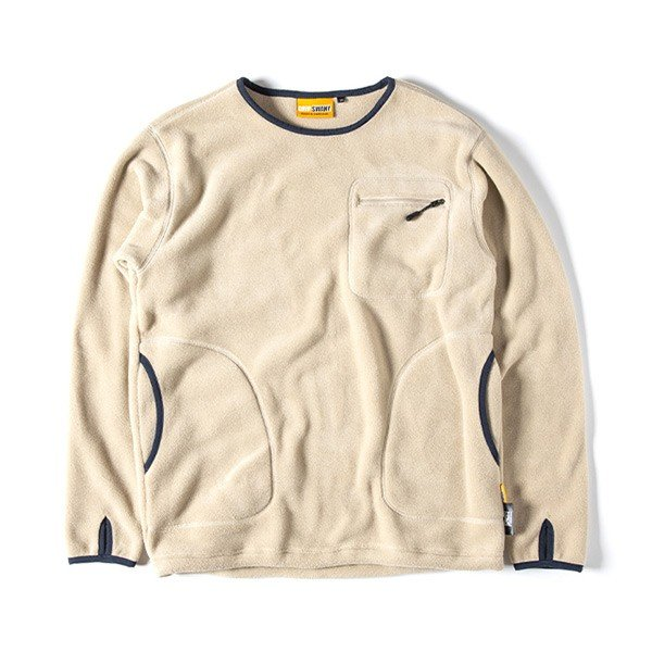 グリップスワニー Grip Swany Polartec Camp Pocket Fleece Crew Beige GSC-30|vic2