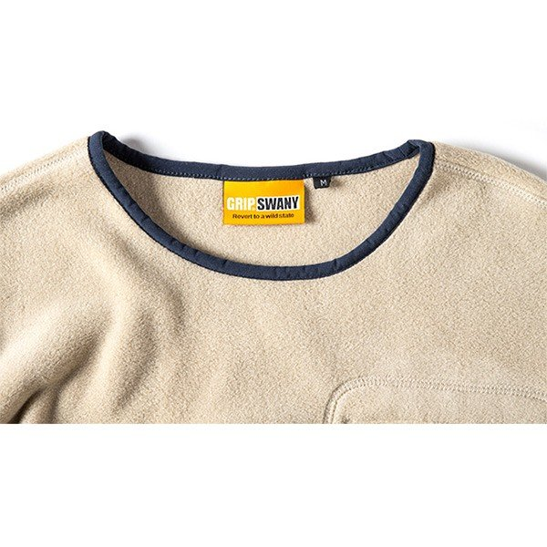 グリップスワニー Grip Swany Polartec Camp Pocket Fleece Crew Beige GSC-30|vic2|04