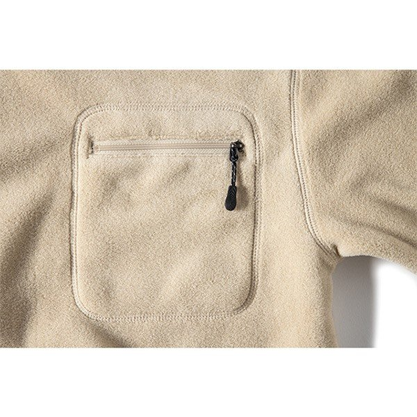 グリップスワニー Grip Swany Polartec Camp Pocket Fleece Crew Beige GSC-30|vic2|05