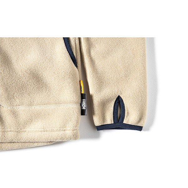 グリップスワニー Grip Swany Polartec Camp Pocket Fleece Crew Beige GSC-30|vic2|07