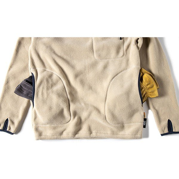 グリップスワニー Grip Swany Polartec Camp Pocket Fleece Crew Beige GSC-30|vic2|08