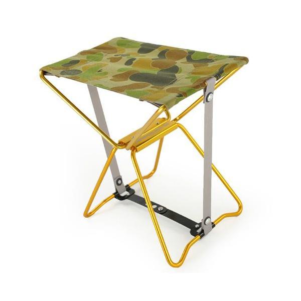 アディロンダック ADIRONDACK マイクロチェア ゴールドフレーム AUSIカモ 折り畳みイス 椅子 収納バッグ付き キャンプ|vic2
