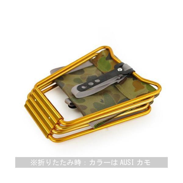 アディロンダック ADIRONDACK マイクロチェア ゴールドフレーム AUSIカモ 折り畳みイス 椅子 収納バッグ付き キャンプ|vic2|02