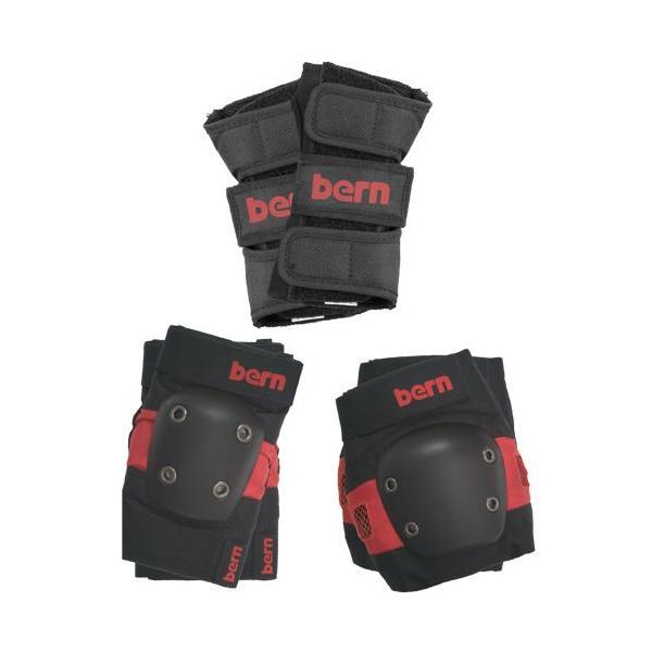 バーン Bern JUNIOR SKATE PAD SET Red FREE スケートパッドセット レッド パッド プロテクター3点セット フリーサイズ vic2
