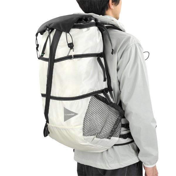 b9646eea6b21 ... アンドワンダー and wander バックパック 40L backpack white ホワイト アウトドア ザック リュック  40リッター| ...