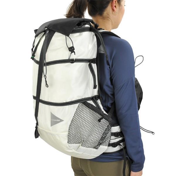 87fa035286b7 ... アンドワンダー and wander バックパック 40L backpack white ホワイト アウトドア ザック リュック 40リッター|