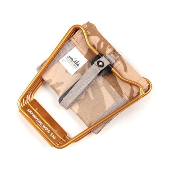 アディロンダック ADIRONDACK マイクロチェア ゴールドフレーム BRITISHデザートカモ 折り畳みイス 椅子 収納バッグ付き キャンプ|vic2|02