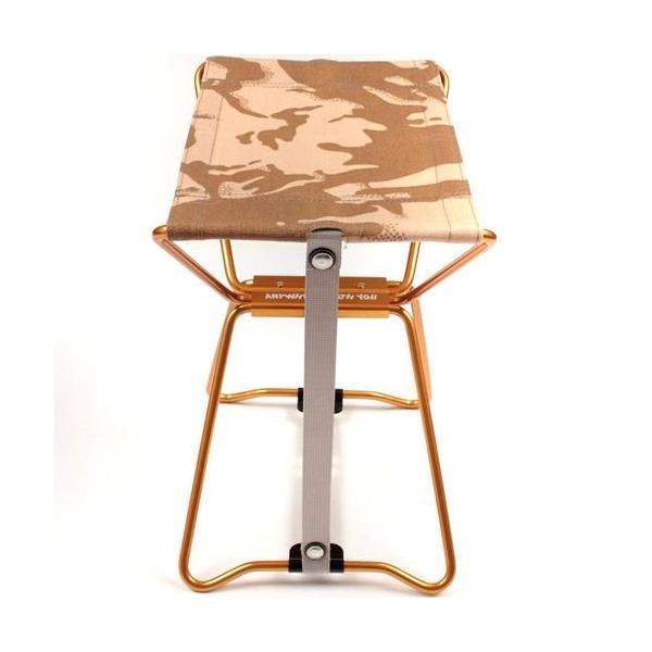 アディロンダック ADIRONDACK マイクロチェア ゴールドフレーム BRITISHデザートカモ 折り畳みイス 椅子 収納バッグ付き キャンプ|vic2|03