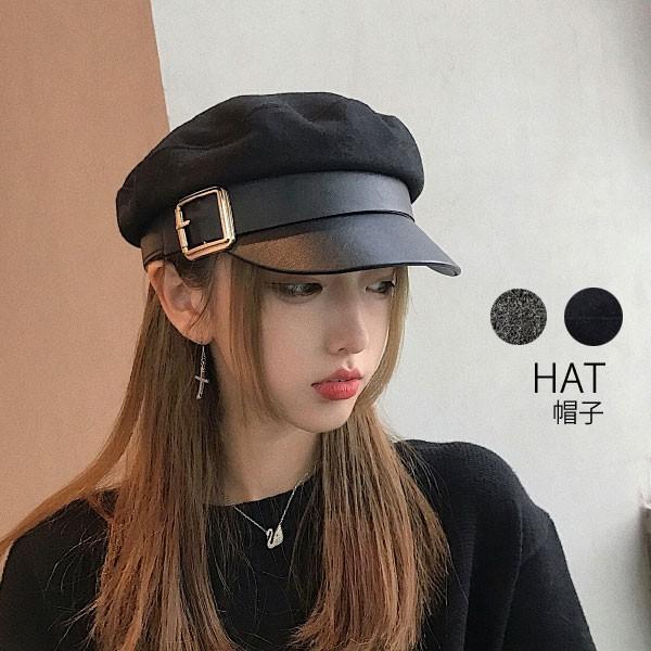 キャスケット帽子レディースつばあり大人ハンチングベレー帽黒ブラックぼうしシンプルベーシック人気22N72225セール