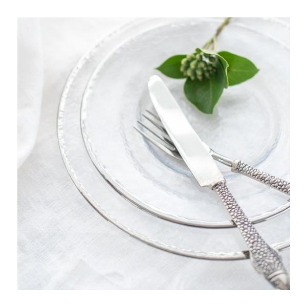 食器 皿 プレート ガラス シルバーガラスプレート Mサイズ