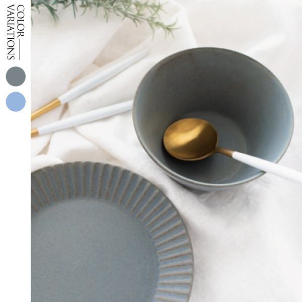 食器 皿 プレート ブルー グレー おしゃれ 美濃焼ライン オーバルプレート
