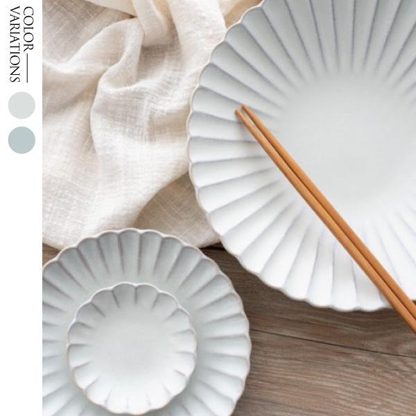 食器 皿 プレート 器 ホワイト ライトブルー おしゃれ 瀬戸焼菊皿 Mサイズ