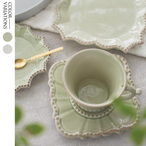 洋食器 ブランド BORDALLO PINHEIRO バーレスク 皿 アンティーク調 ホワイト グリーン プレートS