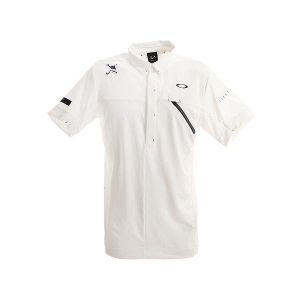 オークリー(OAKLEY)ゴルフウエアポロシャツメンズSkullMessageポロシャツFOA400793-100(メンズ)