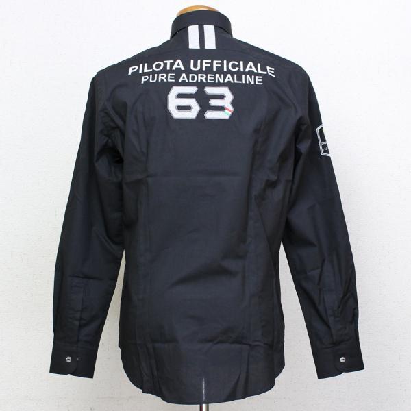 ランボルギーニ メンズ Pilota Ufficiale シャツ ブラック 9010173CCB000 victorylap 02