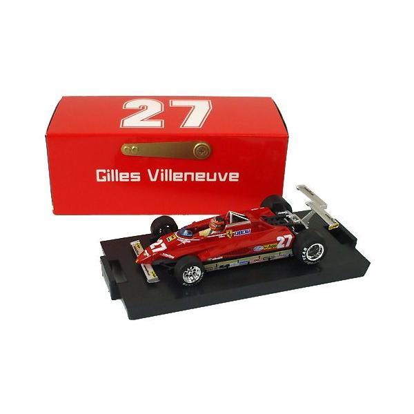 brumm 1/43スケール フェラーリ 126C2 #27 G.ヴィルヌーヴ 1982 ロングビーチGP R272-27|victorylap|03