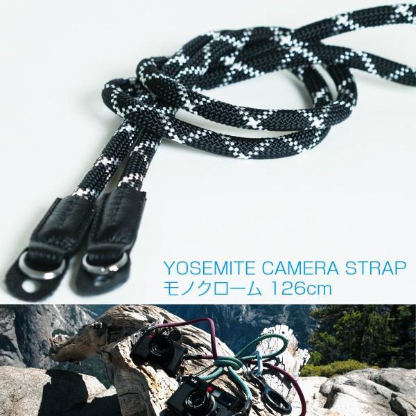 Extended エクステンデッド カメラストラップ ヨセミテ YOSEMITE CAMERA STRAP/モノクローム   126cm