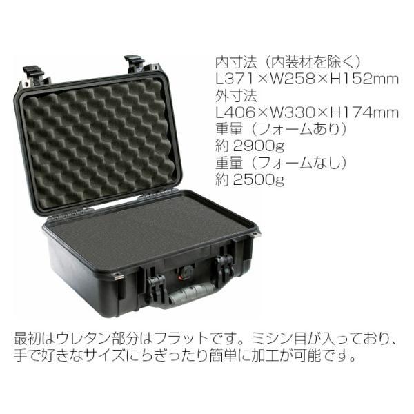 PELICAN ペリカン 1450HK ブラック 業務用 中型カメラケース ブロックウレタン付き FAA機内持込サイズ プロテクトケース