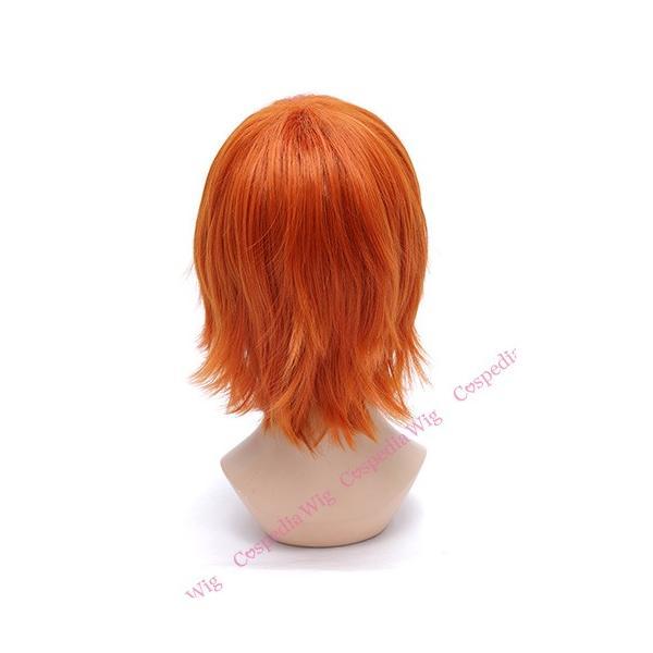 【即納】アレンジショート スパニッシュオレンジ コスプレウィッグ フルウィッグ ウィッグネット付き カラーウィッグ ウィッグ 耐熱