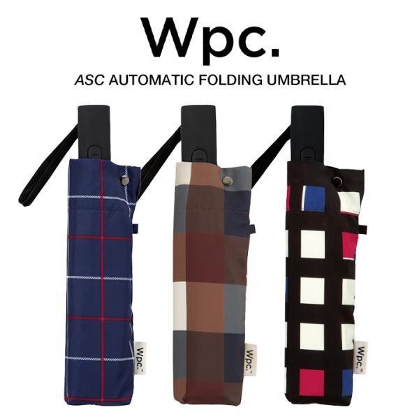 Wpc 折りたたみ傘 自動開閉 軽量 レディース メンズ 男女兼用 日傘 晴雨兼用傘 チェック ボーダー柄 UNISEX ASC Umbrella w.p.c ワールドパーティー MSJ|villagestore