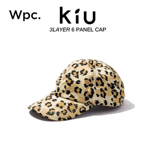 KiUキャップ撥水防水AETX-TECH6パネルキャップレオパードパターンレオパード柄Wpc.ワールドパーティーK172-210