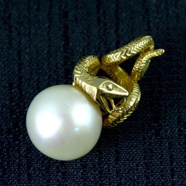 南洋白蝶真珠 バロックパール ペンダントヘッド シルバー925 蛇 和 アジアン 古風 【即納】