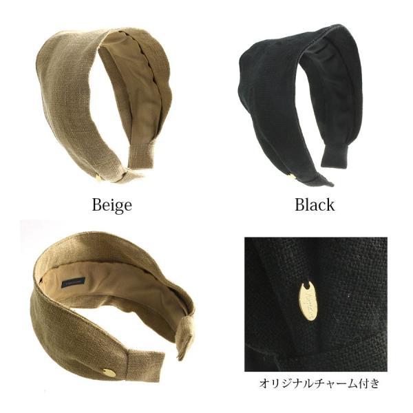 シンプルワイド麻風 カチューシャ /ヘアアクセサリー/幅広 HK-205|vingtaine|02