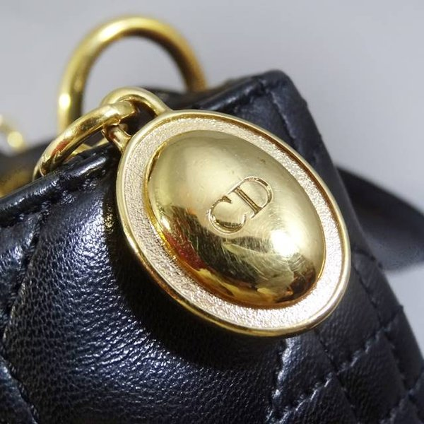 Christian Dior クリスチャンディオール レディディオール レザー ハンドバッグ