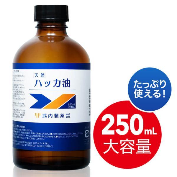 ハッカ油250mL大容量武内製薬水を混ぜてハッカ油スプレーにできます冷感消臭マスク花粉症花粉対策天然スプレーにもできるお風呂