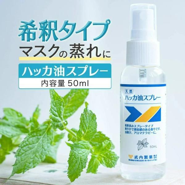 ハッカ油スプレー50mlハッカミントマスクメントールハッカ油冷感冷却スプレー花粉症花粉対策虫除け
