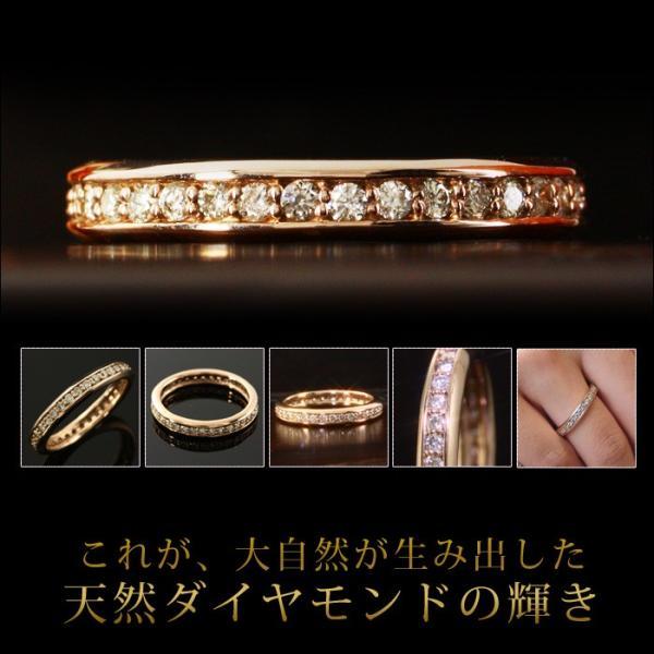 送料無料 ダイヤ0.5ct フルエタニティー リング 指輪 天然ダイヤモンド ホワイトゴールド イエローゴールド ピンクゴールド 10金 K10 K10 WG YG PG|virgindiamond|02