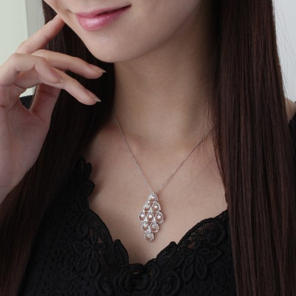 送料無料 天然ダイヤモンド1.0ct 揺れるダイヤペンダント・ネックレス K18WGホワイトゴールド 天然ダイヤモンド レディース|virgindiamond|02