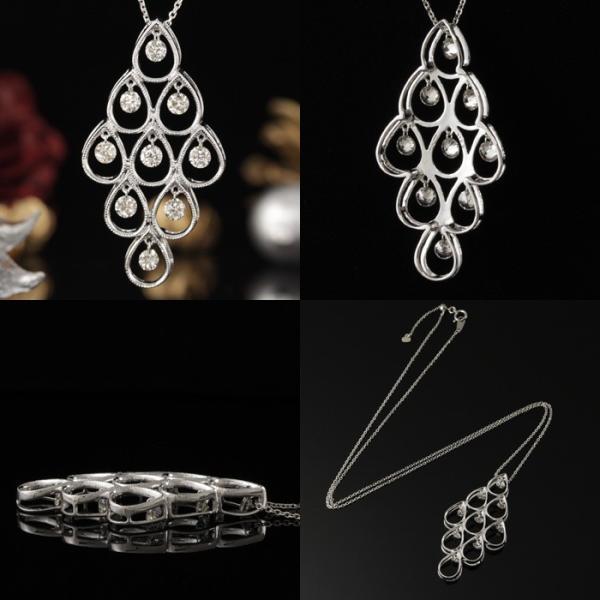送料無料 天然ダイヤモンド1.0ct 揺れるダイヤペンダント・ネックレス K18WGホワイトゴールド 天然ダイヤモンド レディース|virgindiamond|03